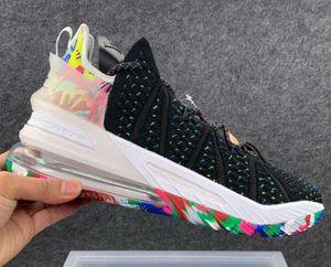 2020 Latest 7-12 Highest quality LEBRON XVIII designer Sneakers men chaussures sports Running Basketball shoes Platform