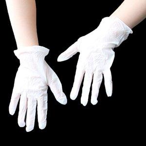 Ücretsiz Plastik Vinil Eldiven Temizle Toz Tek kullanımlık eldiven