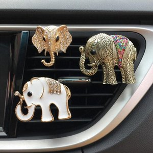 2018 nuevo de la manera diamante Auto Parts elefante Aire acondicionado transpirable Perfume clip Ambientador decoración interior del coche Perf sqid #