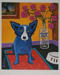 George Rodrigue Blue Dog Absolut Rodrigue Home Decoration Oil Painting On Canvas Wall Art Canvas Pictures Wall Decor 200912