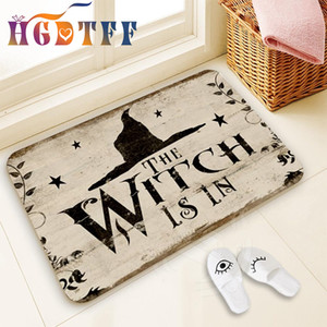 Halloween Decoration for Home Bathroom Mat The Witch Is In Pattern Mat Halloween Carpet for Bedroom Kitchen Party Decoration C0927