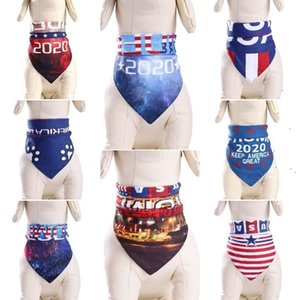 HOT 300pcs Dog and cat accessories pet Triangle scarf 2020 presidential election trump Biden pet dog scarf 8 style T500198