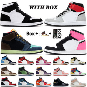 off white air jordan retro 1 1s 2020 Neue Qualität Herren Basketballschuhe High OG Bio Hack Top Jumpman TWIST Chicago Travis Rookie Satin-Schlange Damen Turnschuhe Turnschuhe