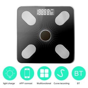 APP BT Body Fat Интеллектуальные весы Solar-Power Вес Scale High Precision подарок для тела семьи здравоохранения