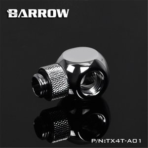 Barrow G1 4 360 degree Rotary Fitting Rotary Metalic Cube Tee 4 Way for computer water cooling TX4T-A01