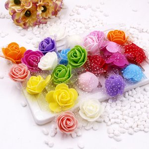 Best Quality 3.5cm Gauze Foam Pe Handmade Decorative Wreath Rose Bear Diy Artificial Flower Outlet