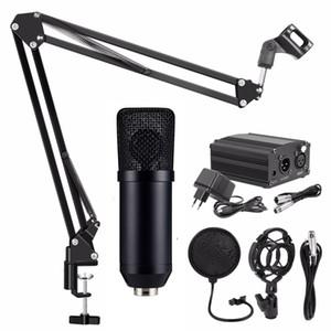 Bm 700 Condenser Microphone With Phantom Power Shock Mount Pop Filter For Studio Audio Recording Computer Microphone Nb35 Microphone Stand