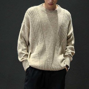 Wool Winter 2020 New 4XL Striped Design Casual Sweater Men'S Slim Fit Knitted Pullovers Plus Size M-5XL m8679