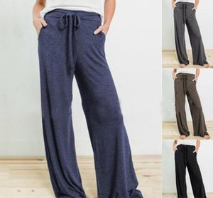 Casual Drawstring Trousers Wide Legs Pants Trousers Beach Resort Knickers Sunscreen Casual Dance Harem Trouser Yoga Sports Trousers GWF1917