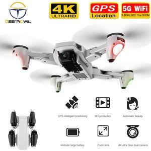 2020 NEW S103 프로 드론으로 4K 카메라 RC 쿼드 콥터 드론 HD 4K GPS 5G 와이파이 FPV 접이식 Dron 헬리콥터 장난감 VS F3 S167 SG906