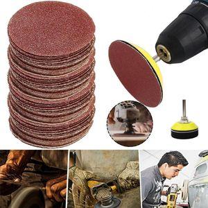 50 adet / takım Profesyonel Zımpara Disk Döngü Zımpara Pad Backer Döngü Seti Kanca Shank Karışık Aşındırıcılar Sandpaper F3Y2