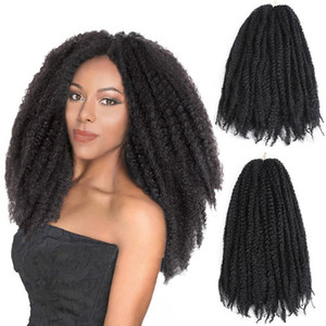wigs can be slanted. Women's afro kinky braid high-temperature silk Africa explosion braid big caterpillar 18 inches long curly hair.
