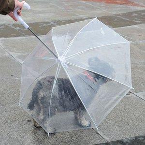 مظلة الحيوانات الأليفة مع المقود للجرو كلب جاف ومريحة في المطر المدمج في المقود مظلة KKA8078