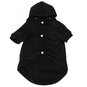 Köpek Kapüşonlular Siyah Pamuk Pet Kış Sıcak Köpekler Kediler Sevimli Köpek Giyim için Buckle ile Kostüm Hoodie Boş Coat Giyim Giyim
