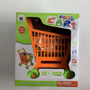 Shopping cart simulation supermarket food cart children's toys