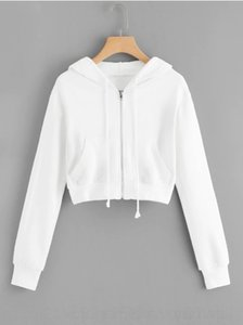 YxhGN casual solid casual zipper pocket Women's color solid color zipper pocket top Top Sweater sweater sweater