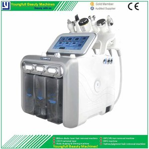 6 in 1 Hydrafacial Ultra H2 O2 Water Oxygen Jet Hydra Peel Hydro Dermabrasion Anti-Puffiness Pigment Spots Removal Hydro Beauty Machine