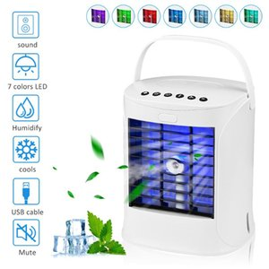Multifunction Portable Air Conditioner Cooler USB Charging Purifier Humidifier Bluetooth Speaker With Lamp Desktop Fan