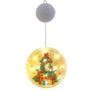 Navidad Decoração Lamp Xmas sucção 2021 Ano Novo Natal de fadas Papai Noel Luzes Decorações do Natal para 2020! Home yxlOsI