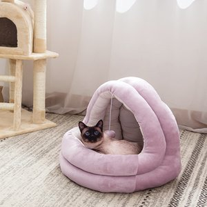 Cat inverno quente Cat and Dog Pet Bed Atacado Plush Nest Four Seasons Universal Net Red Shell almofada mat Nest