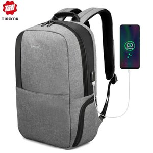 "Tigernu Brand Men Anti Theft 15.6"" USB Laptop Backpack Women Fashion Backpacks Mochila Male Business Bag School Bag For Teens"