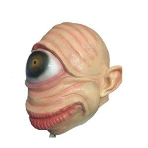 Korku Maskeleri Cadılar Bayramı Lateks Parti Korkunç Prank Gözküresi Korku Fantezi Elbise Cosplay Kostüm Masquerade T200620 Maske