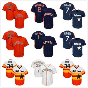 Houston Astros 2020 Jersey George Springer Jerseys Alex Bregman Jerseys Jose Altuve Justin Verlander Jersey Jeff Bagwell Nolan Ryan Basebal