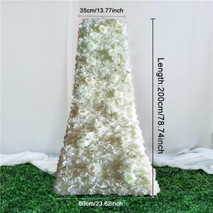 200см пользовательских DIY свадебного стол бегун цветочных заставки расположение декор трейлинг цветок ряд поставки искусственные цветы партия