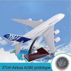 2020 New 37cm Airbus A380 Prototyp Harzflugzeugmodell diecast Prototyp Airlines A380 Flugzeugmodell Luftfahrt Skala Spielzeug für Kinder
