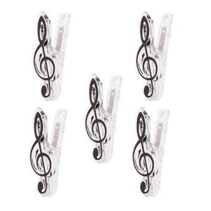 5 pièces Musique Note Clip Clip Plastic Book Page Clip General Musique Accessoires 5 Couleurs