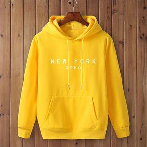 New York Soho Letter women men Sweatshirt Hoody Casual Funny Sweatshirt For female Top Tee Hipster Black White Gray Drop Ship