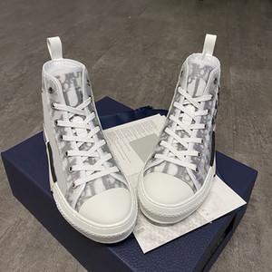 Hot Sales Designer Schuhe High-Top-Oblique Turnschuhe Männer Frauen Lace-up EU45 Freizeitschuhe Lauf Sneaker Weiß-Schwarz-Gummisohle Männer Schuhe