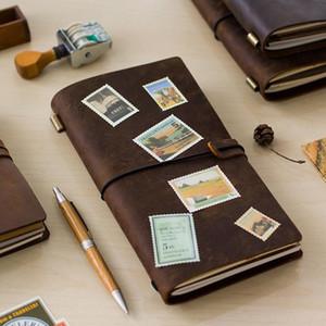 Hecho a mano Get Notebook viajeros 100 Viaje de cuero de vaca Accesorios 1 Comprar Regalo Notebook 5 Diario de cuero genuino de la vendimia Diario Ykmyr bdebaby