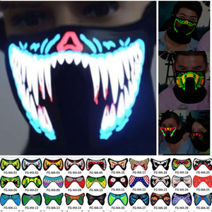 EL Mask Flash LED Music Mask With Sound Active for Dancing Riding Skating Party Voice Control Mask Party Masks For Halloween Xmas HH9-2329