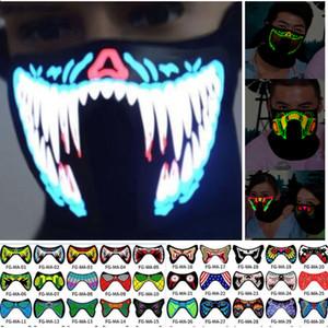 EL Máscara Máscara flash LED música com som ativo para Dancing Máscara Voice Control equitação de patinagem do partido Máscaras do partido para o Dia das Bruxas Xmas HH9-2329