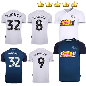 32 rooney 20 21 Derby County soccer jerseys home away 2020 2021 HOME camisetas de fútbol MARRIOTT LAWRENCE WAGHORN kit football shirts