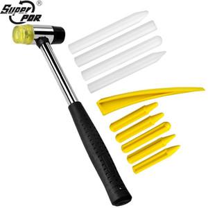 Super PDR Kit d'outils pour carrosserie Dent Paintless Damage Repair Tool outils à main Ensembles Débosselage Kits caoutchouc Marteau + Tap Pen vers le bas