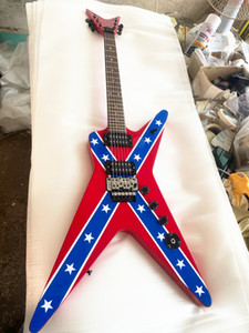 Custon Shop Pantera Dimebag Darrel 일렉트릭 기타 블랙 픽업 크롬 Tremolo Bridge China Made Guitar 무료 배송