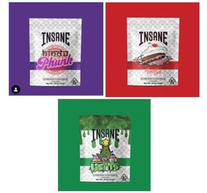 Cookies INSANE BAG 3.5g Major League Exotics LEMON Cherry Smell Proof Bags Vape Packaging for Dry Herb Vaporizer with 6 Kinds Mylar Bag