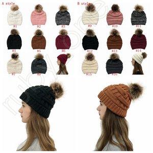 Женщины Трикотажные хвостик Caps Criss Cross хвостик Beanie зима теплая шерсть Вязание Повседневная Hat Christmas Party Hats SEA SHIPPING RRA3624