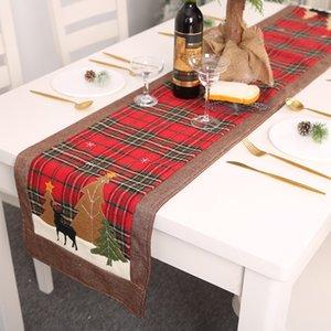 Noel Yaratıcı Noel ağacı Kardan Adam Elk Masa Örtüsü Dekor Masa Örtüsü Natal Masa Bayrak Havlu Merry Christmas Dekor Home For