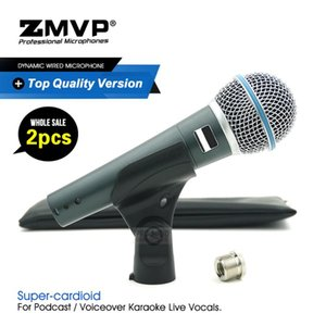 2ST Top-Qualität Version Superniere Gesangsmikrofon BETA 58 Berufskaraoke Wired 58T Hand Mic für Bühne Leben
