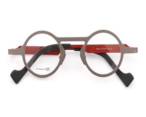 MONGOTEN Retro Unisex Fashion Full Rim B-titanium Progressive Multi-focal Lens Optical Eyewear Gold See Near Far Reading Glasses