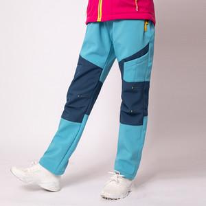 Outdoor Kid's Hiking Pants Waterproof Children Winter Warm Fleece Soft Pants Camping Trekking Ski Thick Trousers for Boys Girls