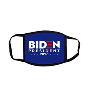 Masques président Amérique Biden 2020 Masques Drapeau États-Unis Parti blanc Masques bleu pour le président 50 pcs