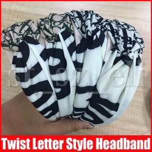 Twist Turban Blumenstirnband-Druck für Frauen Stretch Haarbänder Sport-Stirnband-Yoga Headwrap Stirnband-Haar-Accessoires