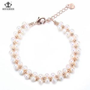 Подлинное барокко Drops ювелирных изделий из бисера браслет Моды Изысканных многослойной пресной воды Pearl браслет ЖЕНСКИХ