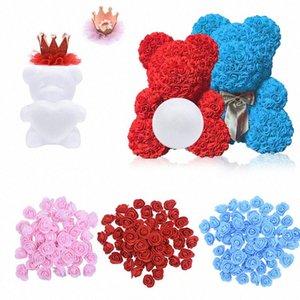 النمذجة الزهور روز الدب الستايروفوم رغوة الدب الكلب رغوة الورود أزهار DIY حفلة عيد الميلاد الديكور هدية Ehjp #