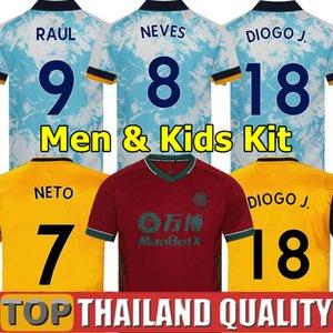 20 21 lupi calcio del pullover CUTRONE RAUL NEVES 2020 2021 Wolverhampton Wanderers Podence NETO maglia di calcio DIOGO J. Uomini Kids kit uniformi