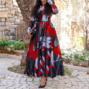 الأزهار المطبوعة مصمم للمرأة فساتين أزياء فساتين Vneck سليم الملابس النسائية الصيف بالاضافة الى حجم فساتين فضفاضة